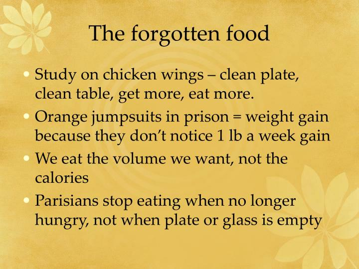 The forgotten food