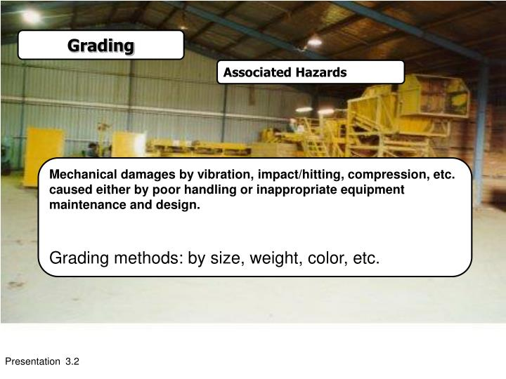 Mechanical damages by vibration, impact/hitting, compression, etc. caused either by poor handling or inappropriate equipment maintenance and design.