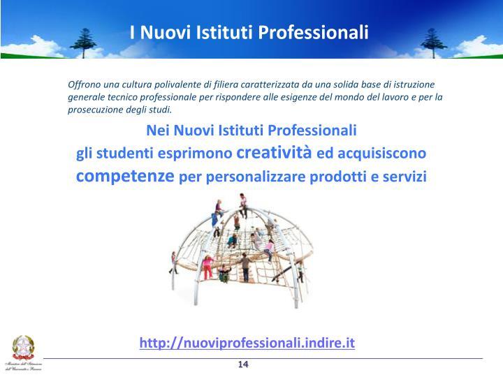 I Nuovi Istituti Professionali