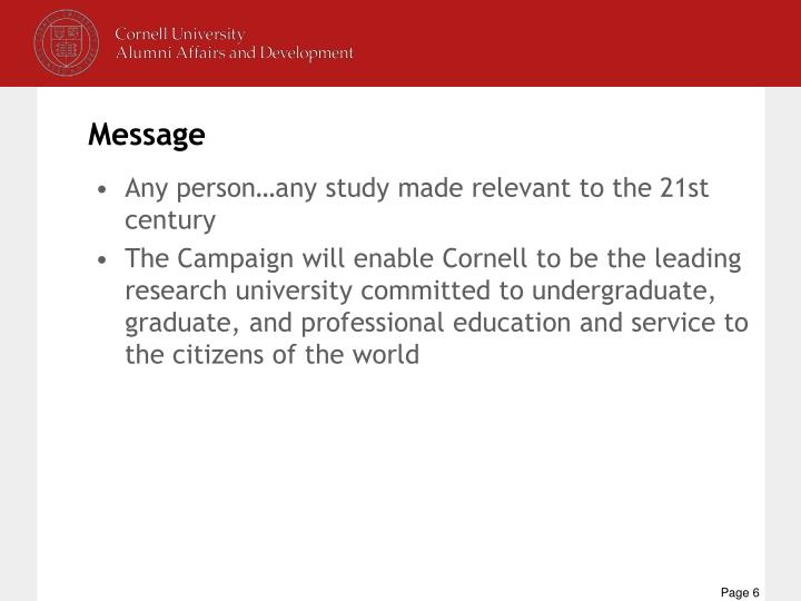Any person…any study made relevant to the 21st century