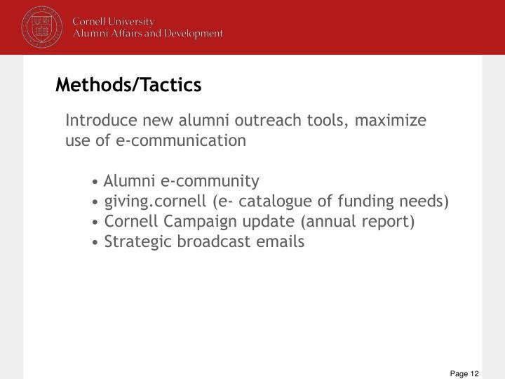 Methods/Tactics