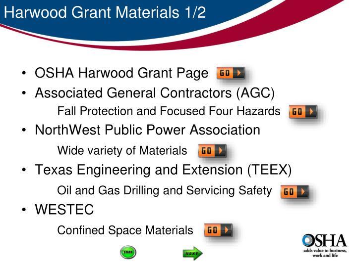 Harwood Grant Materials 1/2