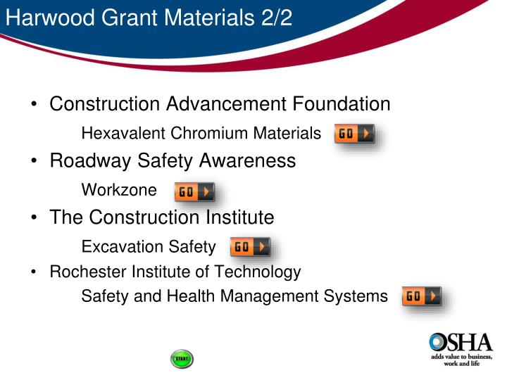 Harwood Grant Materials 2/2