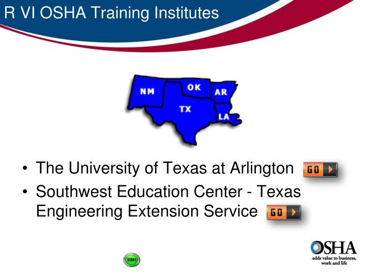 R VI OSHA Training Institutes