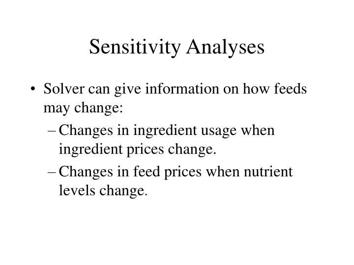 Sensitivity Analyses