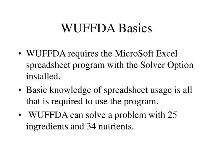 WUFFDA Basics
