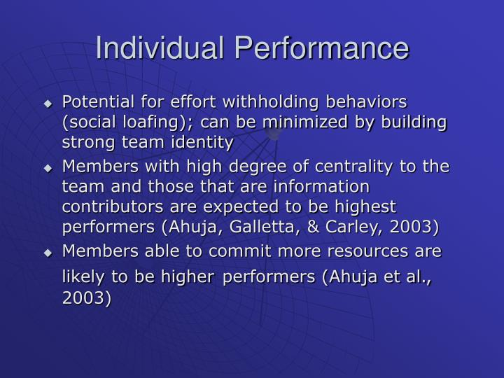 Individual Performance