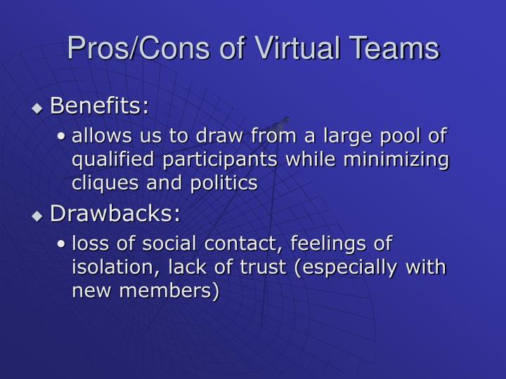 Pros/Cons of Virtual Teams