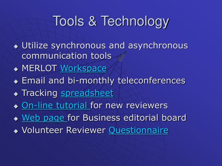 Tools & Technology