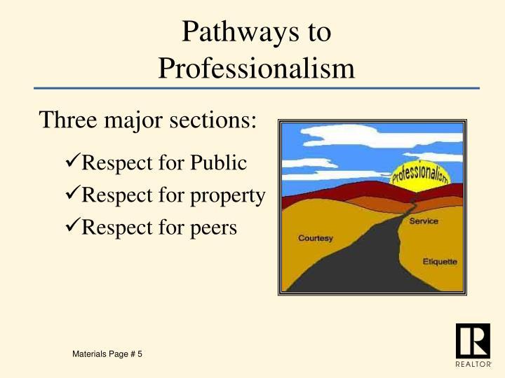 Pathways to Professionalism