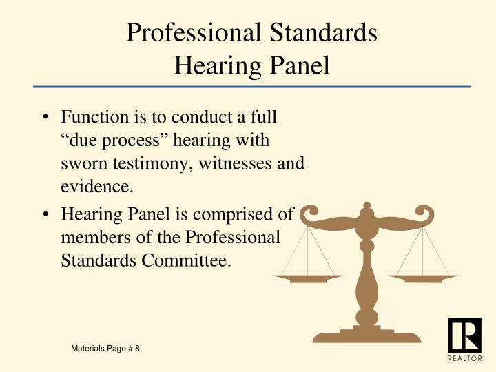 Professional Standards Hearing Panel