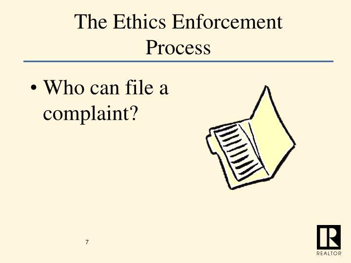 The Ethics Enforcement Process