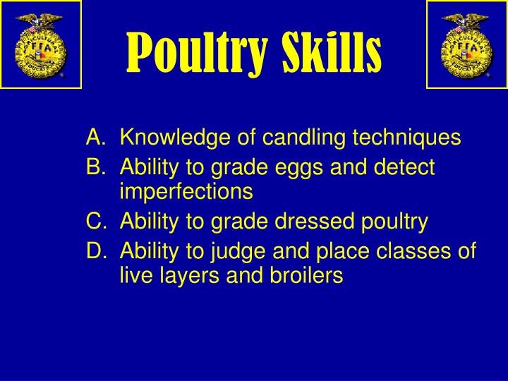 Poultry Skills