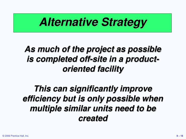 Alternative Strategy