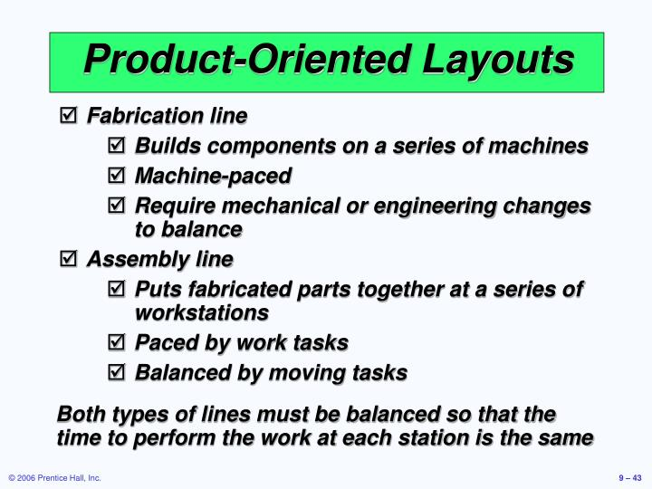 Product-Oriented Layouts