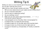 writing tip 6