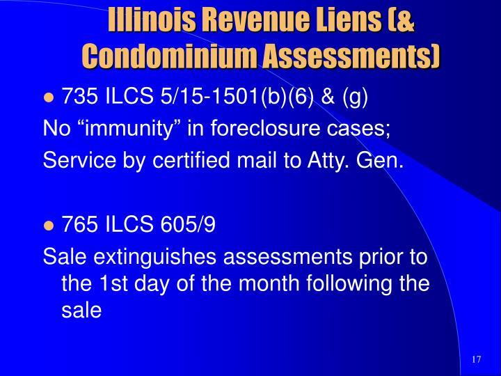 Illinois Revenue Liens (& Condominium Assessments)