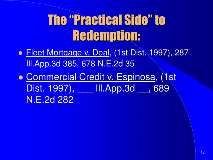 """The """"Practical Side"""" to Redemption:"""