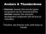 avatars thunderdome