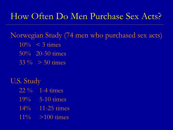 How Often Do Men Purchase Sex Acts?