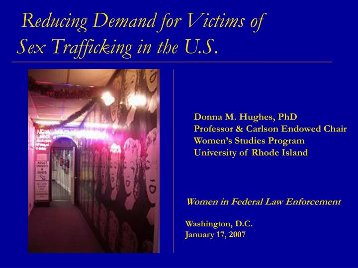 Reducing demand for victims of sex trafficking in the u s