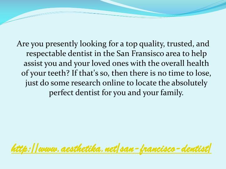 Http www aesthetika net san francisco dentist
