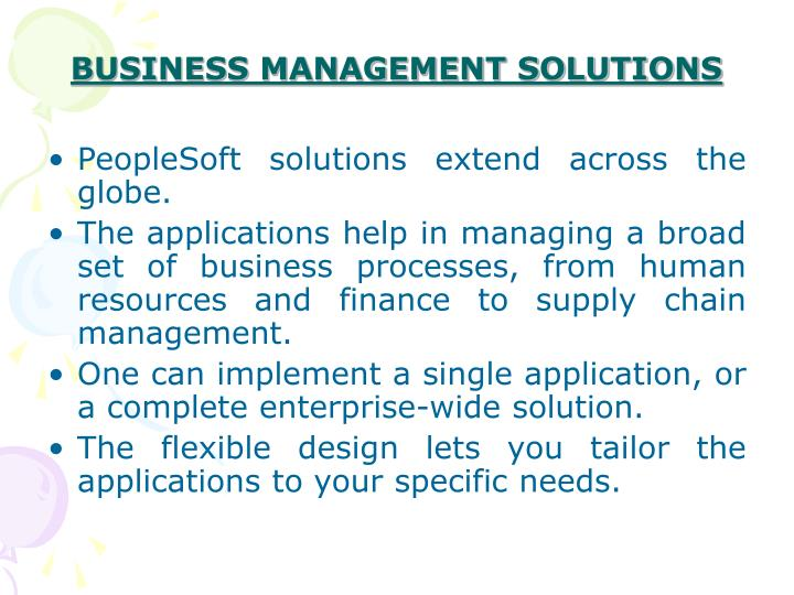 BUSINESS MANAGEMENT SOLUTIONS