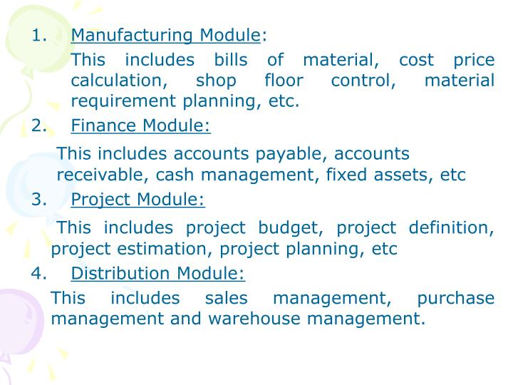 Manufacturing Module