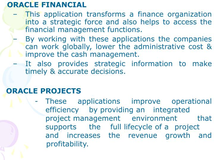 ORACLE FINANCIAL