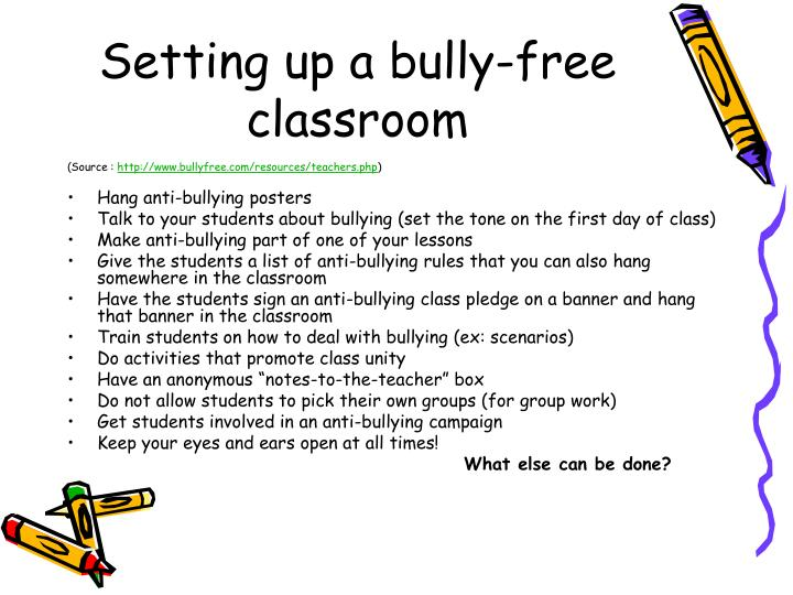 Setting up a bully-free classroom