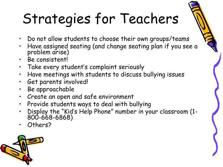 Strategies for Teachers