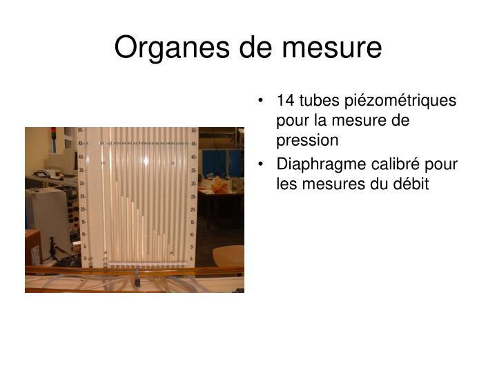 Organes de mesure