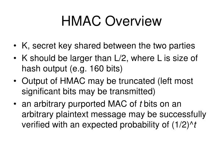 HMAC Overview