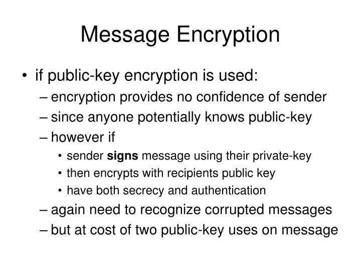 Message Encryption