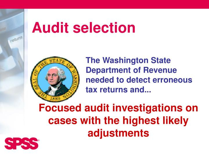 Audit selection