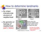 how to determine landmarks