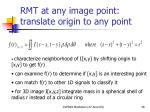 rmt at any image point translate origin to any point