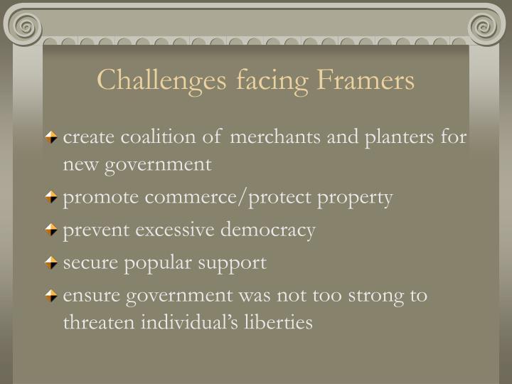 Challenges facing Framers