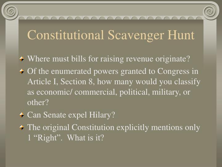Constitutional Scavenger Hunt