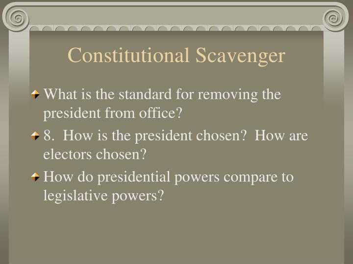 Constitutional Scavenger
