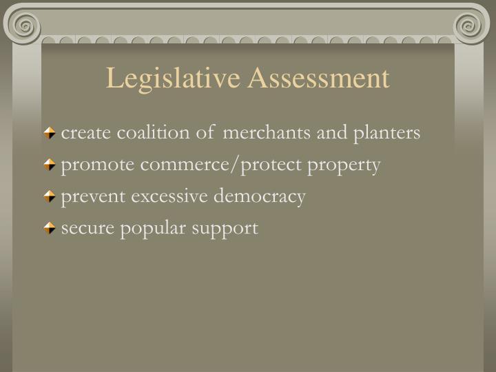 Legislative Assessment