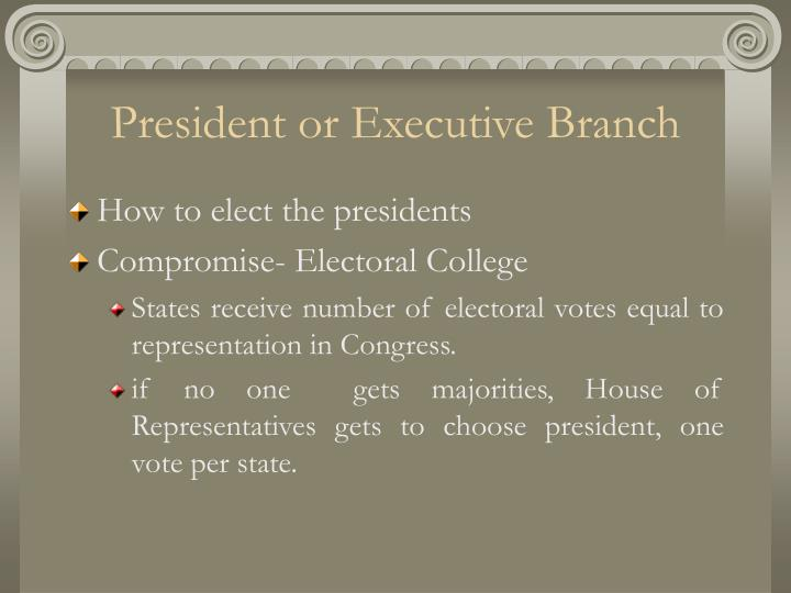 President or Executive Branch