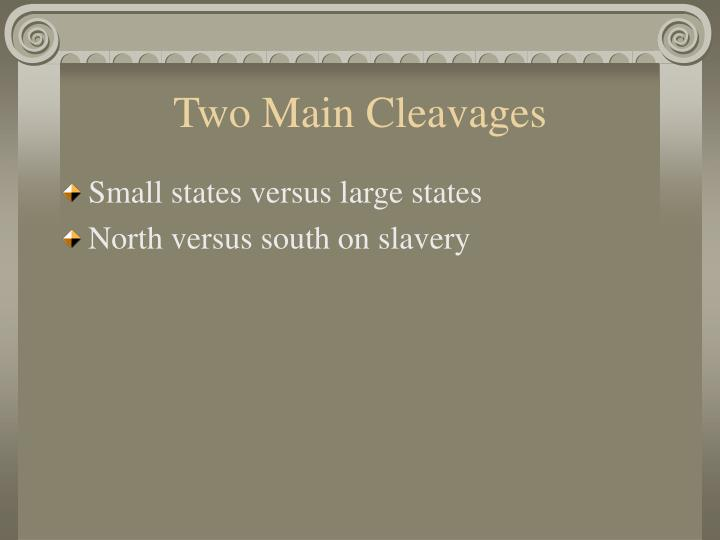 Two Main Cleavages