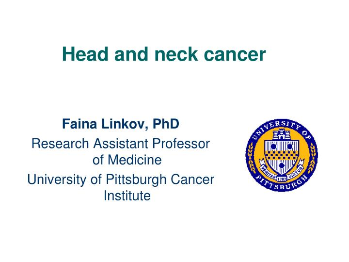 head and neck cancer n.