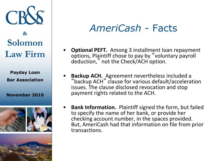 Americash facts