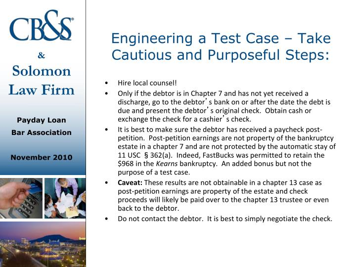 Engineering a Test Case – Take Cautious and Purposeful Steps: