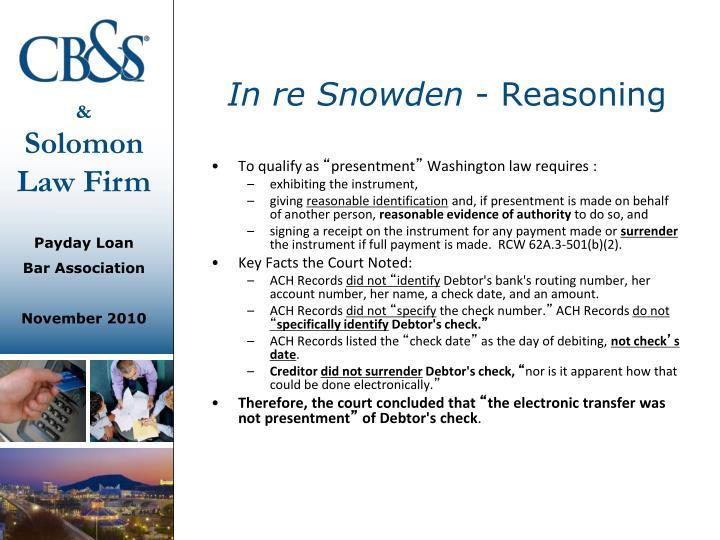 In re Snowden