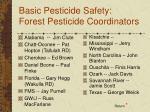 basic pesticide safety forest pesticide coordinators