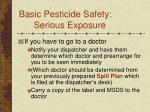 basic pesticide safety serious exposure