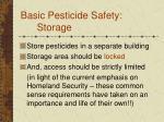 basic pesticide safety storage